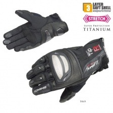 Мотоперчатки Komine GK-820 Titanium Short Windproof Gloves