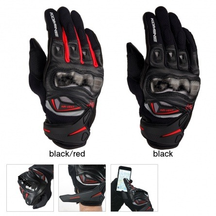 Мотоперчатки Komine GK-224 Carbon Protect Leather Mesh Gloves